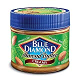 Blue Diamond Homestyle Almond Butter, Creamy, 12-Ounce Jars (Pack of 3) ~ Blue Diamond Almonds