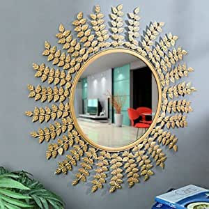 Buy Flourish concepts Leaves wall decorative Mirror Online at Low