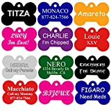 Dog Tags Pet Tags Engraved | 11 Shapes | 8 Colors | by CNATTAGS® (LIFE TIME WARRANTY) (Bone)