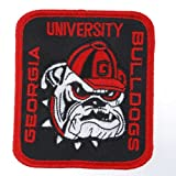 Generic Men's US University Georgia Bulldogs Badge Patch 3 5/8X3 1/8 Red at Amazon.com