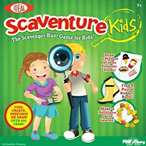 POOF-Slinky 0C690 Ideal Scaventure Kids Board Game by Ideal TOY (English Manual)
