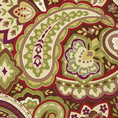 beverage napkins warm paisley - 1