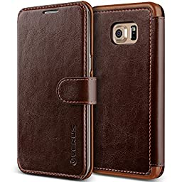 Galaxy S6 Edge Plus Case, Verus [Layered Dandy][Coffee Brown] - [Premium Leather Wallet][Slim Fit] For Samsung S6 Edge+