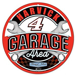 Kevin Harvick #4 Round NASCAR Garage Sign by FGCSports