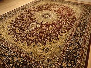 Amazon Com Large 5x8 Burgundy Black Isfahan Area Rug