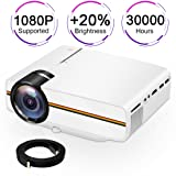 Touyinger X5 1500 Lumens Multimedia Mini LCD Game Video Projector, Kids Gift (Color: White)