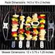Meat Claws + Barbecue Skewer Shish Kabob Set - LIFETIME GUARANTEE - BBQ Kebab Rack Maker - Portable Stainless Steel Kabab Stick for Cooking on Gas or Charcoal Grill - 180 Degree Rotisserie