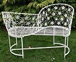 Antique White Metal Love Seat