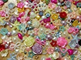 500pc Assorted Size & Color Hearts, Stars, Flowers, Pearls, Bows Flat Back Pe...