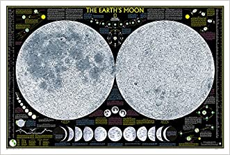 Earth's Moon [Laminated] (National Geographic Reference Map)