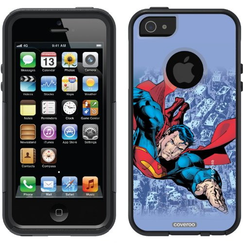 Special Sale Superman - City Background design on a Black OtterBox® Commuter Series® Case for iPhone 5s / 5