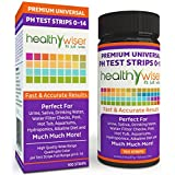 HealthyWiser® pH Test Strips 0-14, Universal Strips To Test, Urine, Saliva, Water, Alkaline Diet, Pool, Hot Tub, Hydroponics, Garden Soil, Aquariums, Kombucha Tea, Results in Seconds, 100-Count