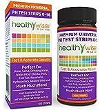 HealthyWiser® pH Test Strips 0-14, Universal Strips To Test, Urine, Saliva, Water, Alkaline Diet, Pool, Hot Tub, Hydroponics, Garden Soil, Aquariums, Kombucha Tea, Results in Seconds, 100-Count