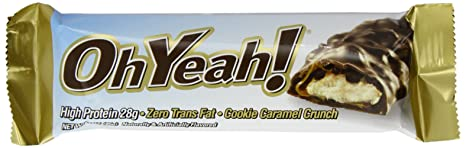 ISS RESEARCH - Oh Yeah Bar - 12 High Protein Riegel a 85g Cookie Caramel Crunch