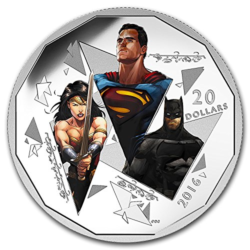 2016 CA Canada Proof 1 oz Silver $20 Batman v Superman: The Trinity 1 OZ Brilliant Uncirculated