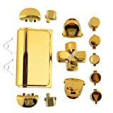 Chrome Plating Replacement Repair Buttons+2x Springs Set for PS4 Controller DualShock 4 Color Gold