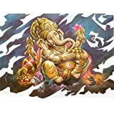 "Dolls Of India ""Lord Ganesha"" Reprint On Card Paper - Unframed (27.94 X 22.86 Centimeters)"