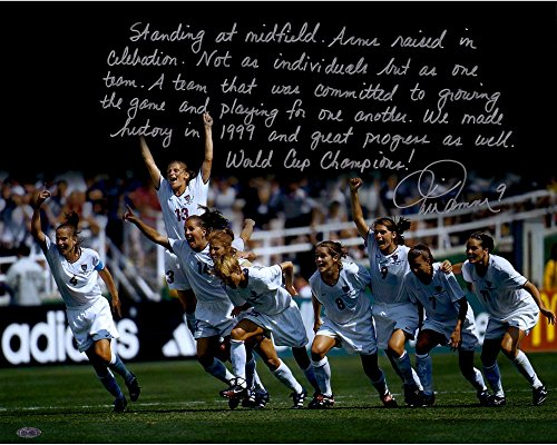 "Mia Hamm Team USA Autographed 16"" x 20"" World Cup Photograph with ""In Their Own Words"" Inscription - Sports - Steiner Sports Certified"