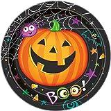 8 Stk. Partyteller Pumpkin Pals 23cm - Pappteller Halloween Kürbis Party Spooky Grusel