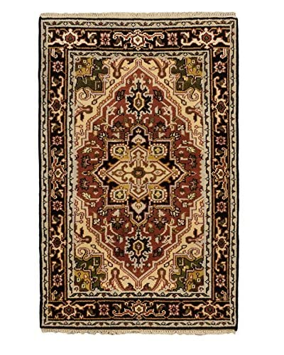 Hand-Knotted Royal Heriz Wool Rug, Copper, 3' 10 x 6'