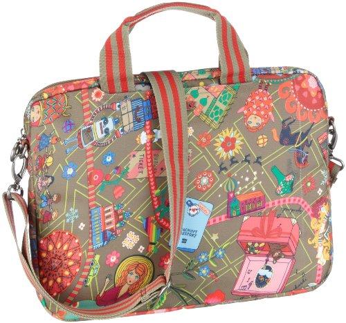 "Oilily Laptop sleeve 15.4"" OES1211-7701 Mädchen Laptop-Taschen, Grün (Grün/Rot/Pink), 37x29,5x3,5 cm (B x H x T)"