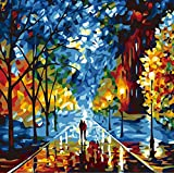 Hatop DIY Hand-Painted Art Oil Painting, Huge Canvas Wall Room Decor(No Frame) (A)