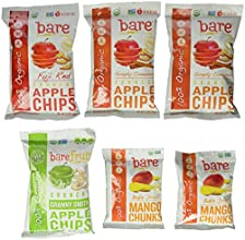 Bare Fruit Organic Variety Pack, Gluten Free Baked Snacks, 6-Multi Serve Bags