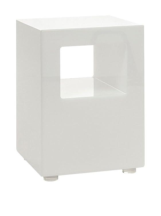 Wink design,Budapest, Tavolino Luminoso, Metacrilato, Bianco Opaco