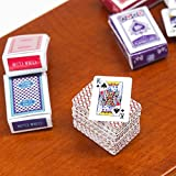 2 Set Games Poker Playing Cards Miniature Dollhouse Accessory For Re-ment Bid