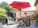 Charles Jacobs 2.7m PARASOL in Red Ga...