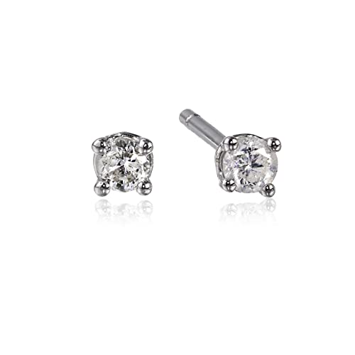 10k-Gold-Round-Cut-Diamond-Stud-Earrings-1-10-cttw-J-K-Color-I2-I3-Clarity-