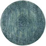 Safavieh Vintage Collection VTG112-2220 Turquoise and Multicolored Viscose Round Area Rug, 6-Feet