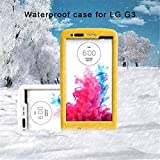 (Surprised) Lg G3 Waterproof Case (Gift for Screen Protect Film and Clean Cloth) Full-body Protective Case Waterproof Shockproof Dustproof Snowproof Case Cover 6.6 Ft Underwater Durable Full Sealed Protection Water Resistant Hard Shell Full-body Protective (3 Months Warranty) Case Cover for Lg G3 (Do Not Fit for Lg G3 Mini) (LG G3 XLJ yellow)