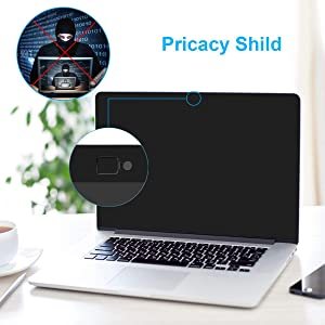MacBook Air 13 Privacy Screen Compatible MacBook Pro 13.3 inch(Late 2016-2019)/MacBook Air 13.3'' (2018 Release/Model: A1932)-Anti Glare[Easy On] -Webcam Cover Slider (Color: black, Tamaño: 13.3-inch MacBook Air(2018 Release ))