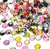 Beading Station 1440-Piece Flat Back Brilliant 14-Cut Round Rhinestones, 3mm-10ss, Multicolor