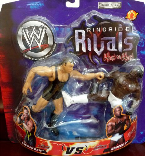 Buy Low Price Jakks Pacific Rob Van Dam RVD vs. Booker T WWE Ringside Rivals Head to Head Toy Figures (B004WX3076)