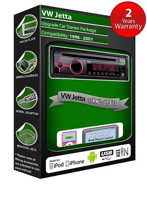 VW Jetta de lecteur CD et stéréo de voiture radio Clarion jeu USB pour iPod/iPhone/Android