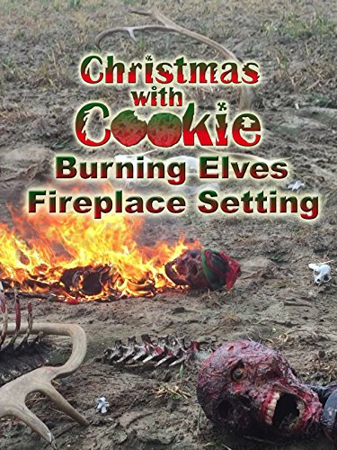 Christmas with Cookie: Burning Elves Fireplace Setting