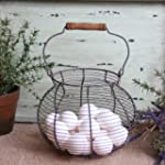 Antique Style Wire Egg Basket Shabby...