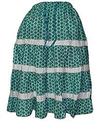 PMS Pure Cotton Multi Color Fashion Medium Skirts