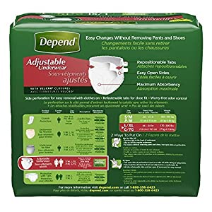 Depend Adjustable Incontinence Underwear, Maximum Absorbency (Pack of 9 (16 ct each)) from Depend
