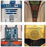 ホーム&キッチン スター・ウォーズ ヨーダ/R2-D2/C-3PO/Xウイング・パイロット 縦21×横21センチ メラミン・プレート4枚セット