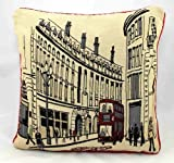 "Regent Street London Retro Tapestry Cushion Covers 18"" x 18"""