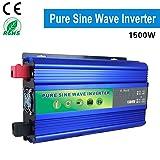 DOLPHINEGG 1500W Watt Power Inverter with Digital Display DC 12V/48V to AC 220V Pure sine Wave Inverter,Blue,DC48VTOAC220V (Tamaño: DC48VTOAC220V)