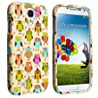 Galaxy S4 Unique Durable Rubberized Case. Luxmo CRSAMSIVFANOWL - Retail Packaging- Fancy Owl