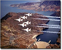 U.S. Air Force Thunderbirds Hoover Dam 11x14 Silver Halide Photo Print
