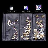 100pcs Square Crystal AB Flatback Rhinestones Mix 3 Sizes 3D Nail Art Jewels Decoration Stones Supplies