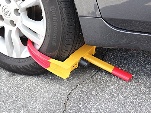 TMS® Wheel Lock Clamp Boot Tire Claw Auto Car Truck Rv Boat Trailer Anti-theft Towing image