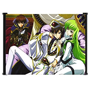 "Code Geass Anime Fabric Wall Scroll Poster (23""x16"") Inches"