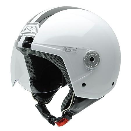 NZI 150251G324 Vintage II CWB Casque de Moto, Blanc/Noir, Taille : L